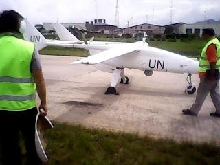 Le premier aéronef non armé et sans pilotes de la Monusco (Photo Facebook) - Radio Okapi