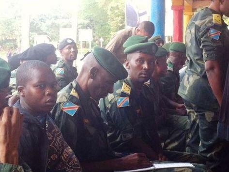 Quelques prévenus au procès Mamadou Ndala à la tribune du 8 mars à Beni (Ph. Ley Uwera)