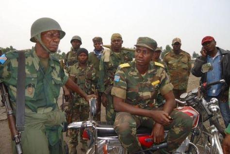 Col. Mamadou Ndala et ses homes au front de Kibati après la fuite du M23 (Ph. Tiers)