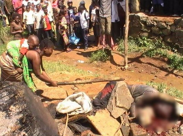 Un présumé rebelle lynché, brûlé à Béniville (Ph. France24/Obs)